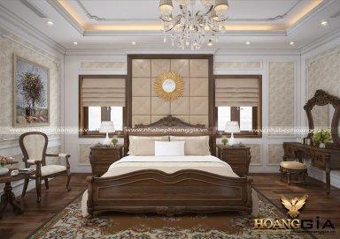 Mẫu thiết kế nội thất phòng ngủ đẹp tân cổ điển PNTCD 22