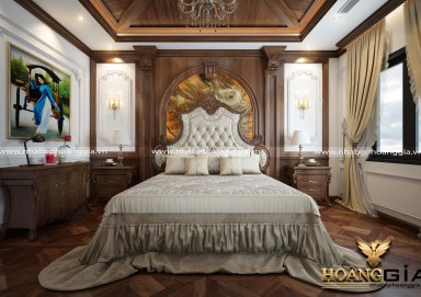 Mẫu thiết kế phòng ngủ với nội thất tân cổ điển PNTCD 27