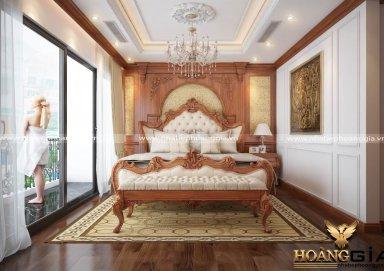Mẫu thiết kế phòng ngủ phong cách tân cổ điển PNTCD 28