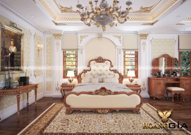 Mẫu thiết kế phòng ngủ phong cách tân cổ điển nhà chị Mỹ sang trọng