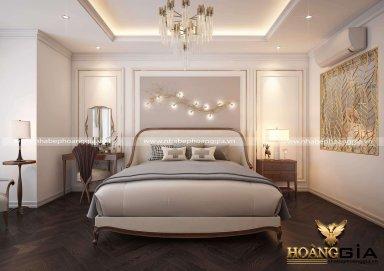Nét đẹp nhẹ nhàng đầy cuốn hút của mẫu phòng ngủ tân điển sang trọng