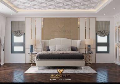Mẫu thiết kế phòng ngủ tân cổ CG thanh lịch đầy tinh tế