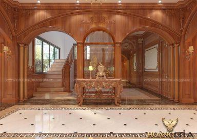 Mẫu thiết kế sảnh hành lang biệt thự tân cổ điển sang trọng đầy đẳng cấp
