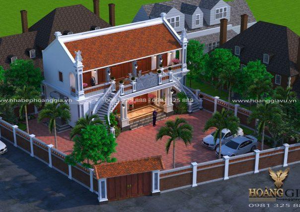 Dự án thiết kế thi công nội ngoại thất nhà thờ họ gia đình anh Công