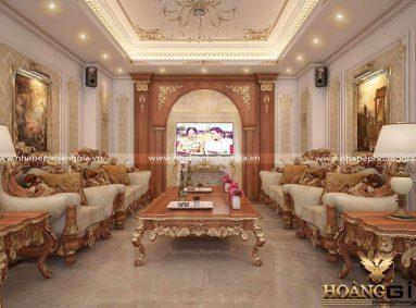 Đơn vị thiết kế thi công nội thất tân cổ điển gỗ gõ đỏ uy tín