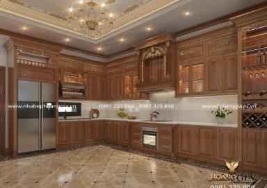 Dự án thiết kế thi công tủ bếp tân cổ điển nhà chị Hiền (Bắc Giang)