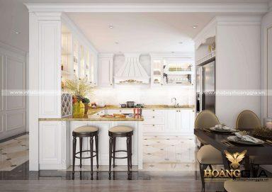 Chia sẻ các lưu ý trong thiết kế tủ bếp tân cổ điển nhà chung cư