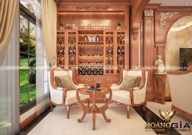 Khám phá nét đặc trưng trong thiết kế tủ rượu tân cổ điển sang trọng