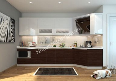 Mẫu tủ bếp Acrylic 09