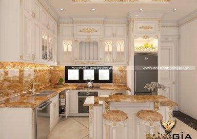 Mẫu tủ bếp dát vàng TBDT 11