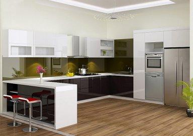 Mẫu tủ bếp acrylic 12