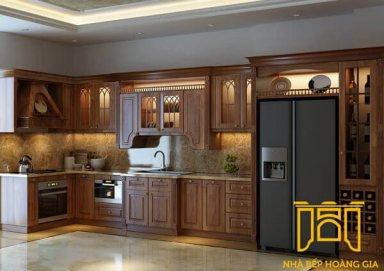 Mẫu tủ bếp đẹp gỗ cẩm 03 sang trọng