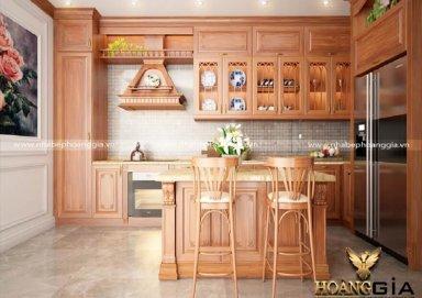 Mẫu tủ bếp gỗ tự nhiên 26