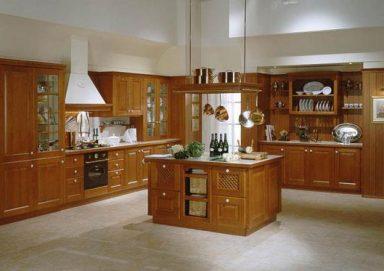 Mẫu tủ bếp đẹp gỗ hương 02