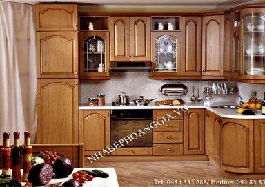 Mẫu tủ bếp hiện đại gỗ hương 05