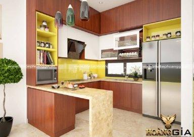 Mẫu tủ bếp gỗ tự nhiên 28