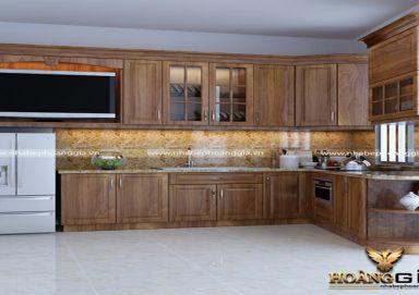 Mẫu tủ bếp gỗ lát 04