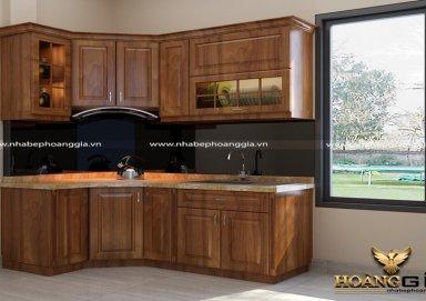 Mẫu tủ bếp gỗ lát 03