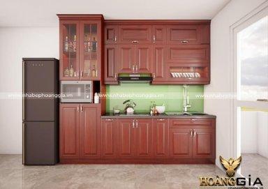 Mẫu tủ bếp hiện đại gỗ sồi Mỹ 05