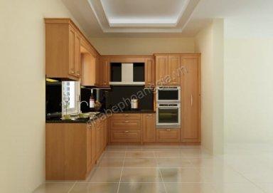Mẫu tủ bếp gỗ tự nhiên 02