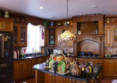Thiết kế tủ bếp gỗ tự nhiên 05