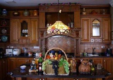 Mẫu tủ bếp đẹp chất liệu gỗ tự nhiên 06