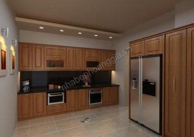 Mẫu tủ bếp gỗ tự nhiên 07