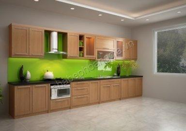 Mẫu tủ bếp gỗ tự nhiên 10