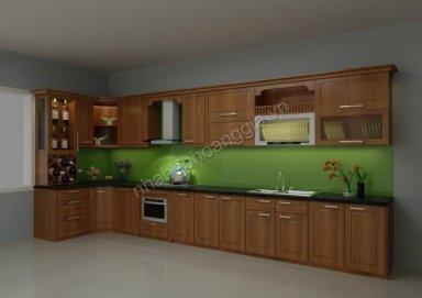 Mẫu tủ bếp gỗ tự nhiên 11