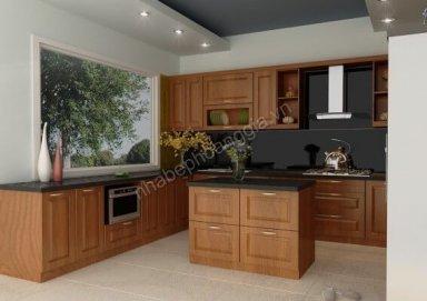 Mẫu tủ bếp gỗ tự nhiên 15