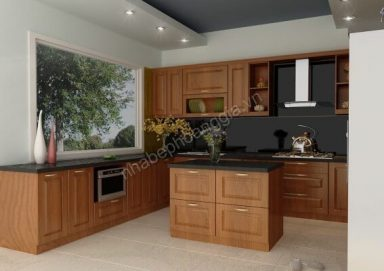 Mẫu tủ bếp với chất liệu gỗ tự nhiên cao cấp 15