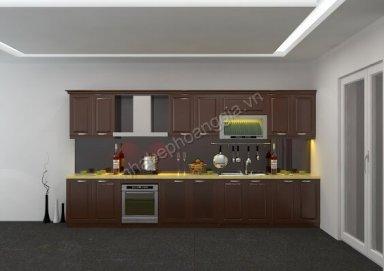 Mẫu tủ bếp gỗ tự nhiên 18