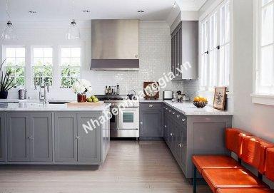 Mẫu tủ bếp đẹp chất liệu gỗ tự nhiên 20