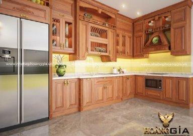 Mẫu tủ bếp gỗ tự nhiên 30
