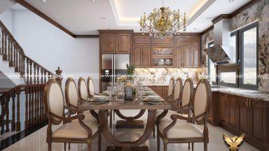 Tư vấn thiết kế tủ bếp kết hợp với bàn ăn đầy ấn tượng