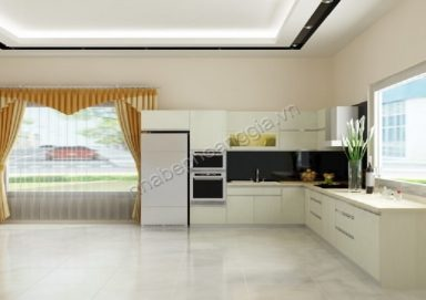 Mẫu tủ bếp gỗ Laminate 04