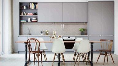 Tổng hợp các mẫu tủ bếp màu xám đẹp nhẹ nhàng
