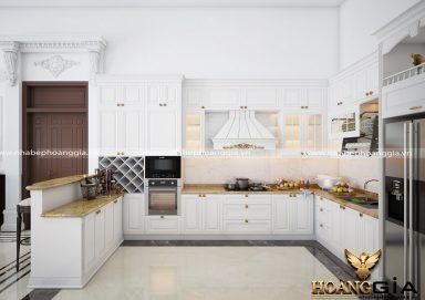 Tủ bếp phong cách tân cổ điển TBTCĐ 22