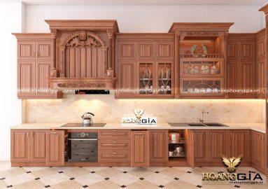 Dự án thiết kế và thi công tủ bếp tân cổ điển nhà anh Kiên (Hưng Yên)