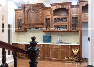 Dự án thiết kế thi công tủ bếp tân cổ điển nhà anh Phi (Đại Mỗ, Hà Nội)