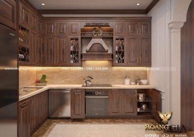 Ấn tượng với mẫu thiết kế tủ bếp tân cổ điển đẹp cho nhà bếp nhỏ