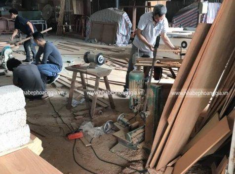 Xưởng sản xuất và thi công nội thất gỗ óc chó tại Hà Nội
