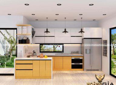 Địa chỉ xưởng sản xuất tủ bếp gỗ Acrylic tại Hà Nội uy tín